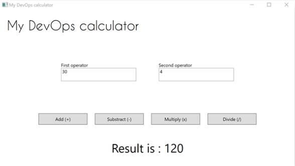 Application Desktop - My DevOps calculator